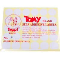 Nhãn decal Tomy số No.118 Self Adhesive Lables