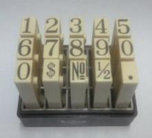 Dấu ghép số Toyoda No.S Multi Joint Number 12mm Rubber Stamp