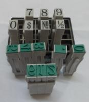 Dấu ghép số Toyoda No.2 Multi Joint Number 6mm Rubber Stamp
