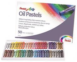 Phấn dầu Pentel Arts Oil Pastels PHN-50, 50 Color Set